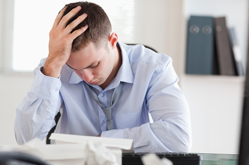 690496350 istock photo Businessman stressed while doing his accounting 826505276