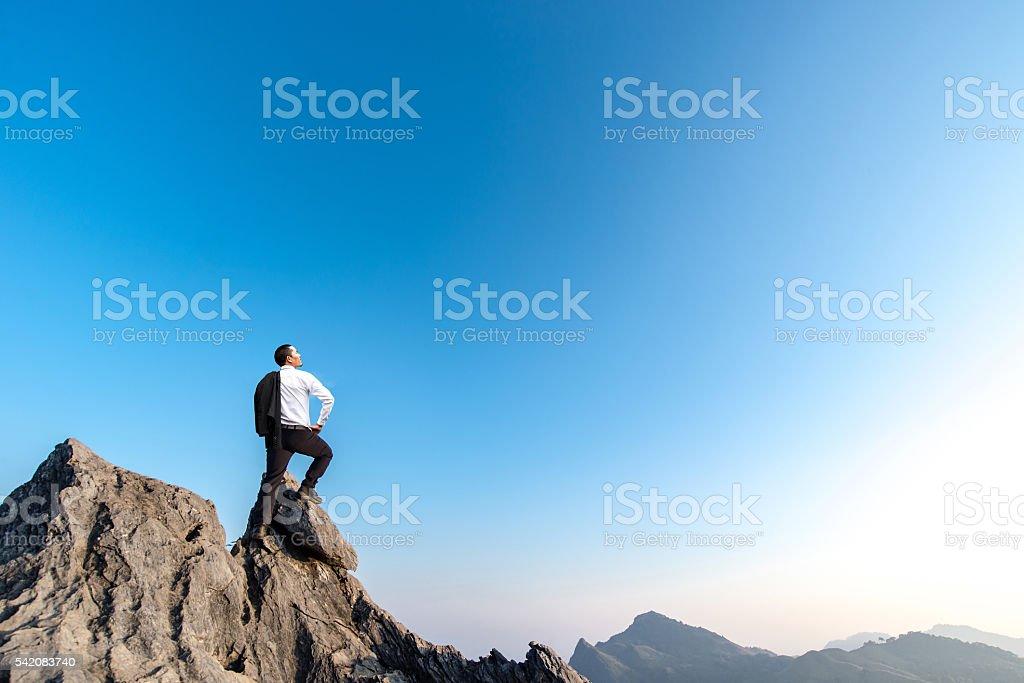 businessman success stock photo
