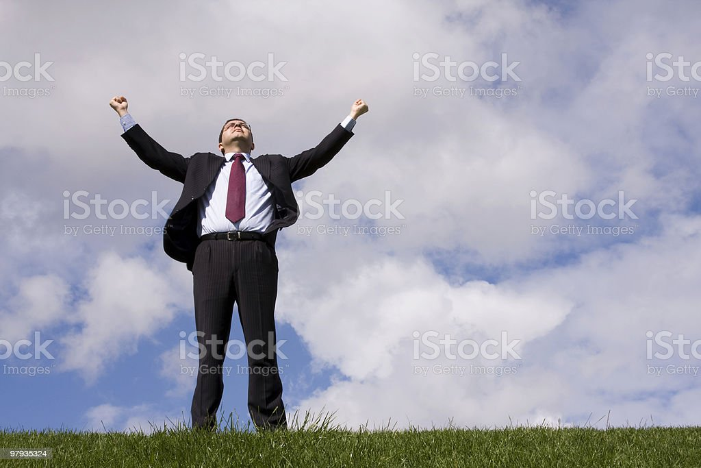 Businessman success royalty-free stock photo