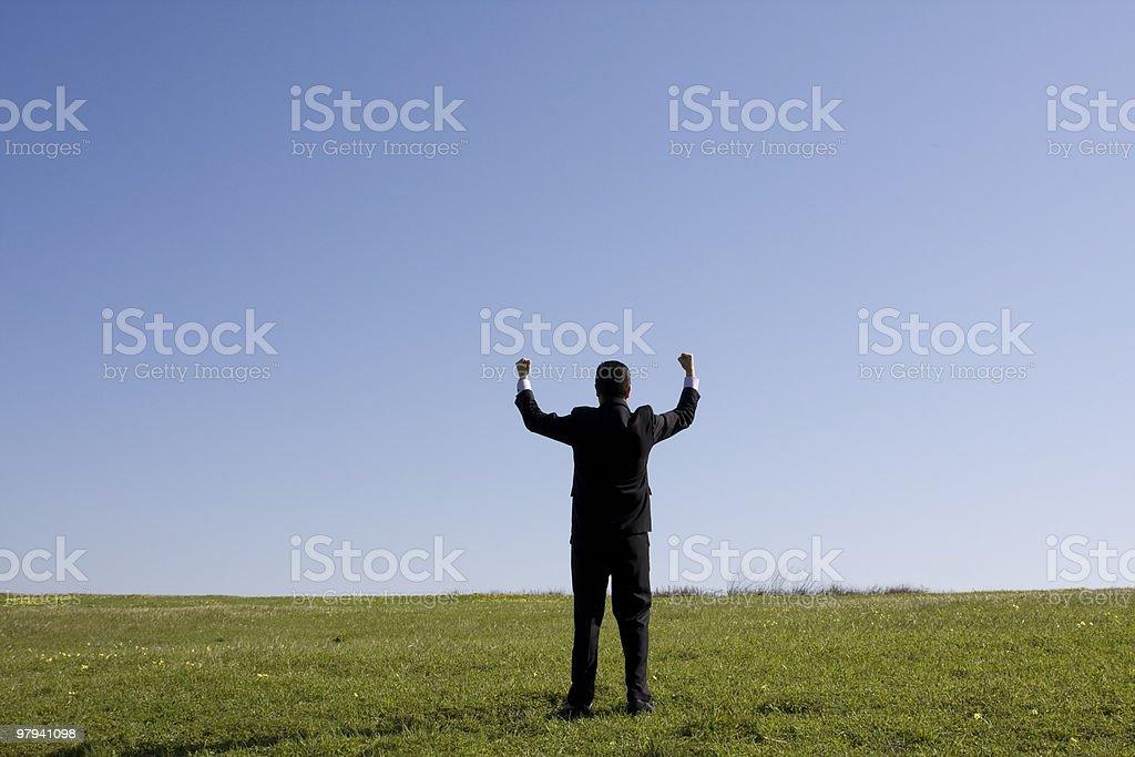 Businessman success royalty-free stock photo