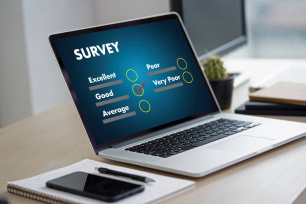 businessman SURVEY and Results Analysis Discovery Concept businessman SURVEY and Results Analysis Discovery Concept questionnaire stock pictures, royalty-free photos & images