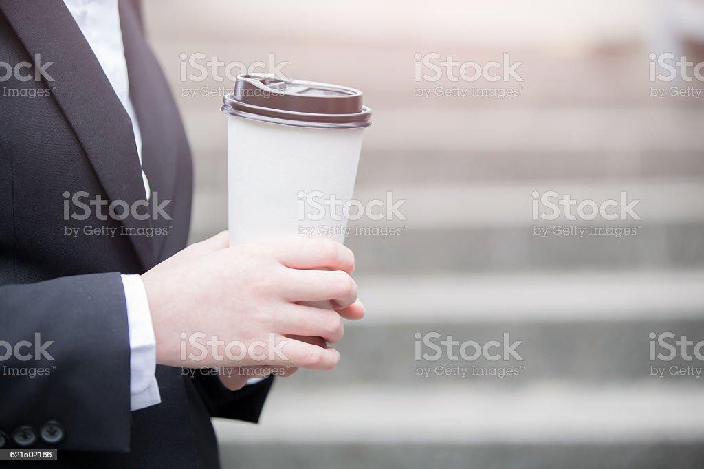 businessman take coffee Lizenzfreies stock-foto
