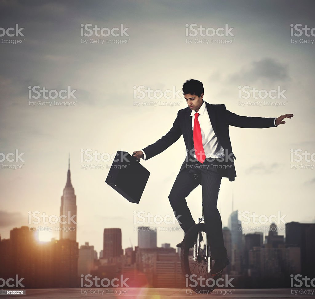 Businessman Taking A Risk In New York City stock photo