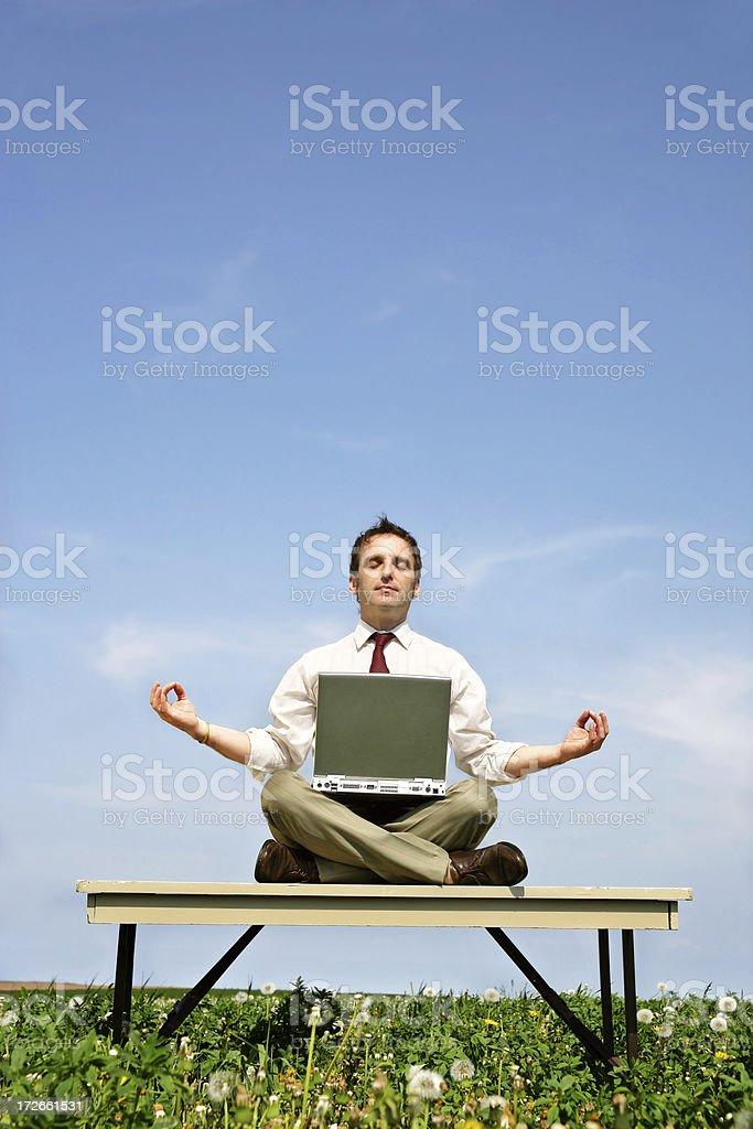 Businessman taking it easy royalty-free stock photo