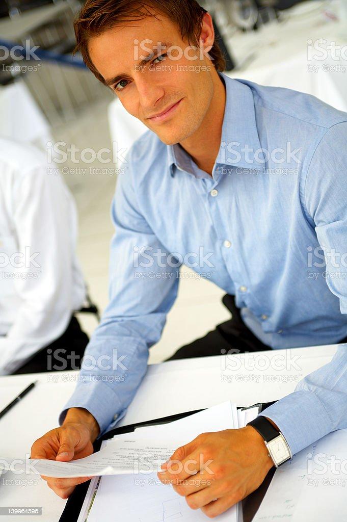 Businessman taking notes royalty-free stock photo