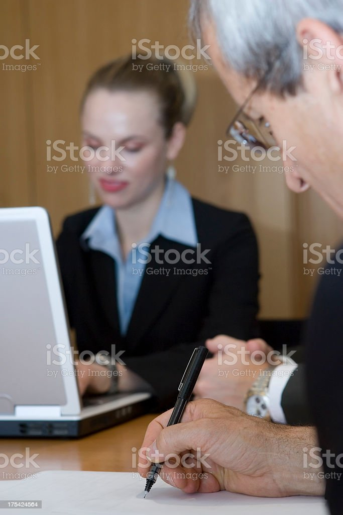 Businessman Taking Notes royalty-free stock photo