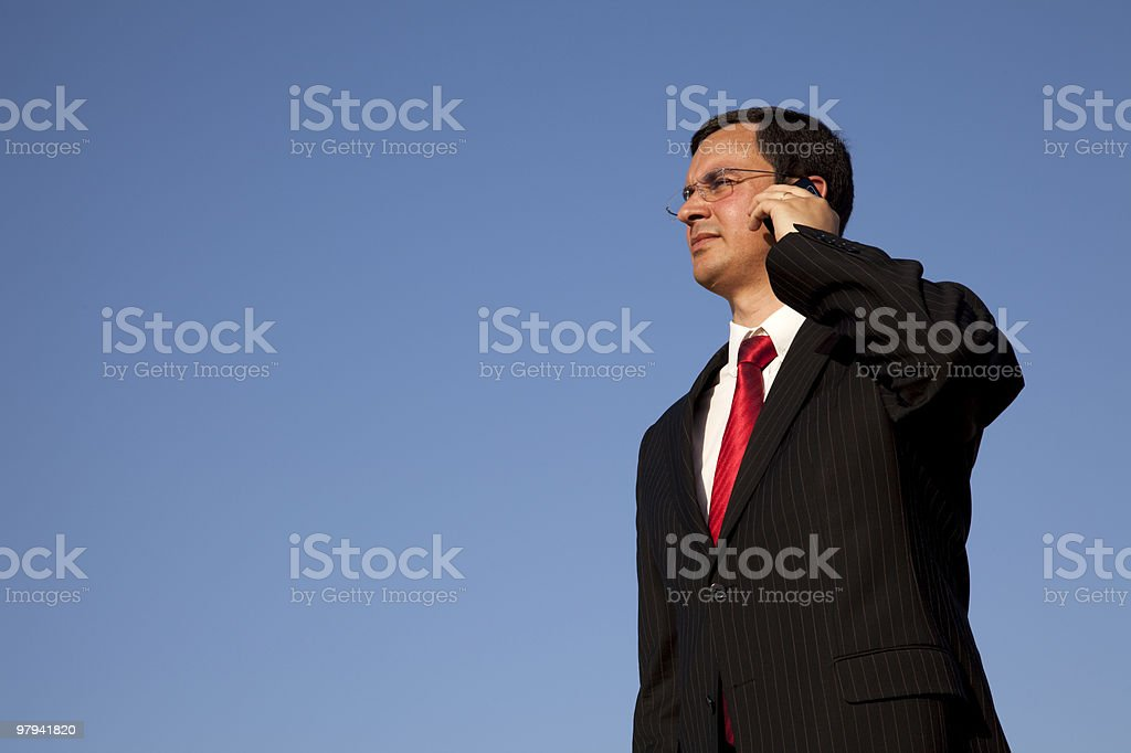 Businessman talking on the cellphone royalty-free stock photo
