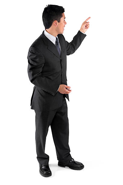 Businessman teaching or presenting Businessman teaching or presentinghttp://www.twodozendesign.info/i/1.png presenter stock pictures, royalty-free photos & images