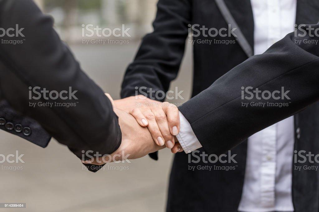Businessman teamwork collaboration relation concept. Business...