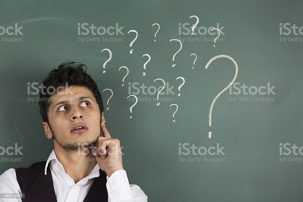 Businessman Thinking Answer royalty-free stock photo