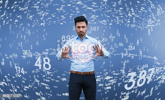 istock Businessman thinking, brainstorming, finance data 893071032