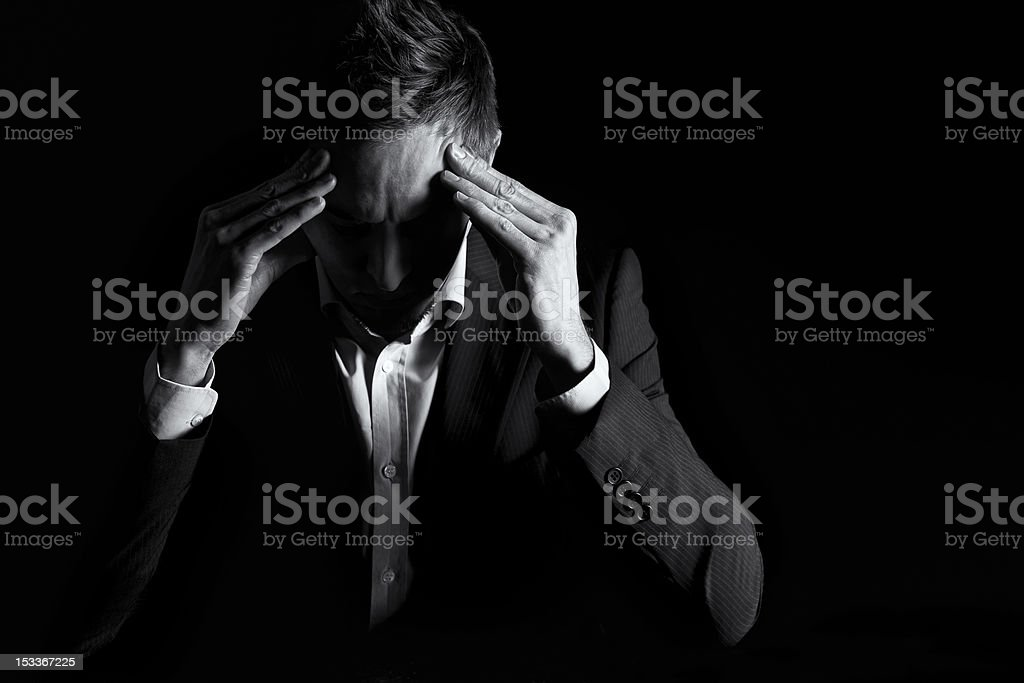 Businessman thinking hard. royalty-free stock photo