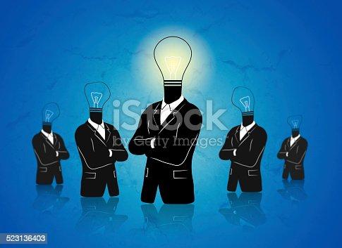175442264 istock photo Businessman thinking of idea 523136403
