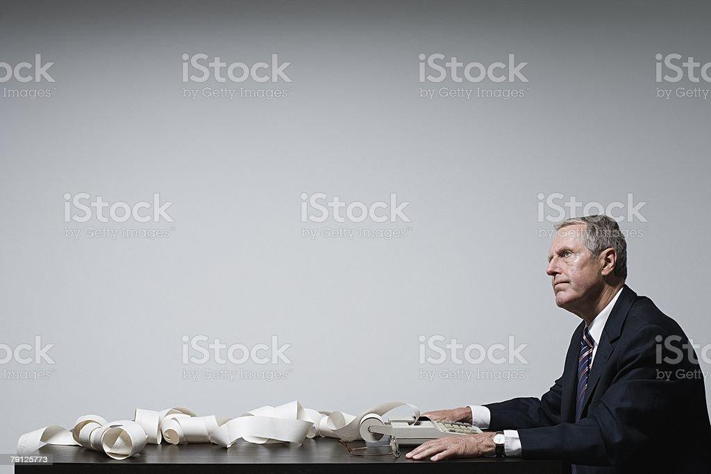 A businessman thinking 免版稅 stock photo