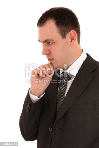 Businessman Thinking Stock Photo & More Pictures of Adult