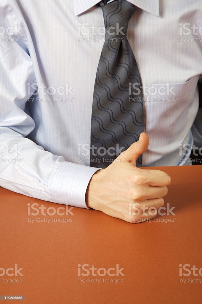 Businessman. Thumb's up. royalty-free stock photo