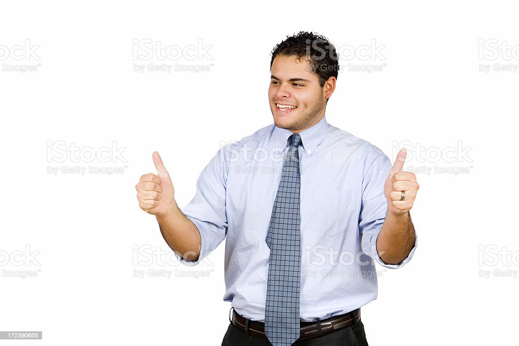 Businessman Thumbs Up royalty-free stock photo