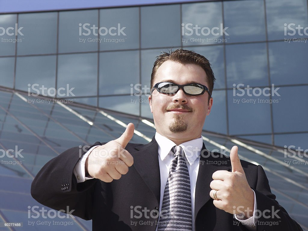 Businessman - Thumbs Up stock photo