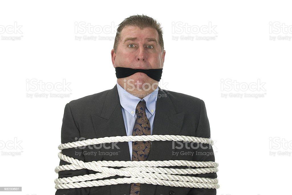 Geschäftsmann gebunden – Foto