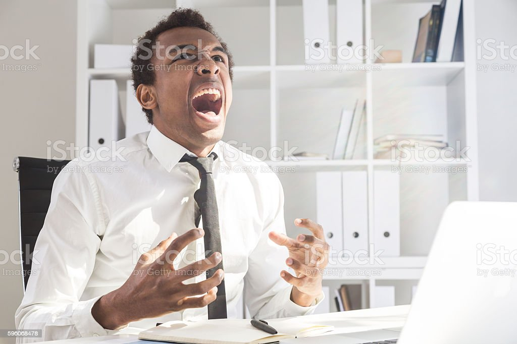 Businessman tired of work royalty-free stock photo