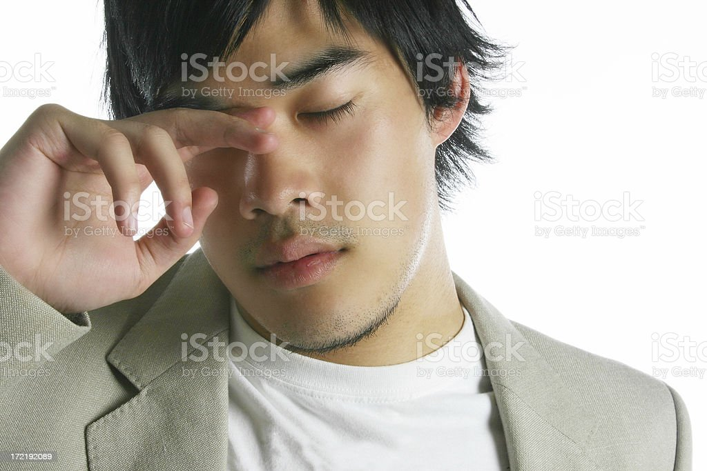 Businessman tired royalty-free stock photo
