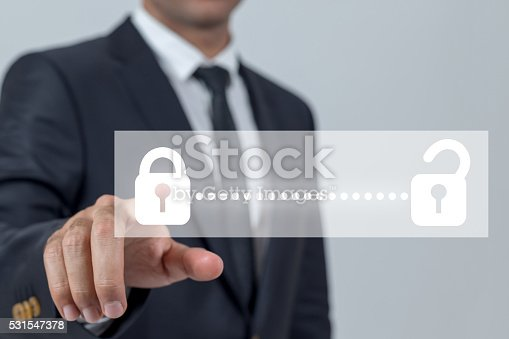 istock Businessman touch unlocking concepts 531547378