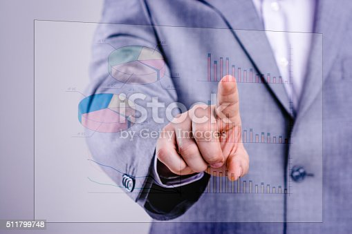 istock Businessman touching financial dashboard 511799748