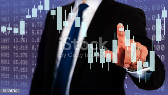 istock Businessman touching financial dashboard 514267612