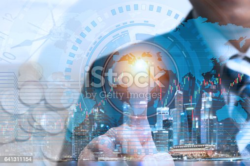 istock businessman touching global network and data exchange to check worldwide 641311154
