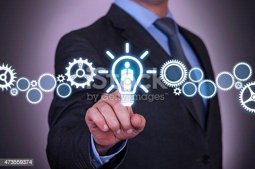istock Businessman Touching Human Idea Concept 473559374
