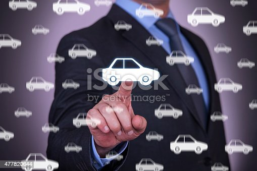 683425144 istock photo Businessman Touching New Car 477820644