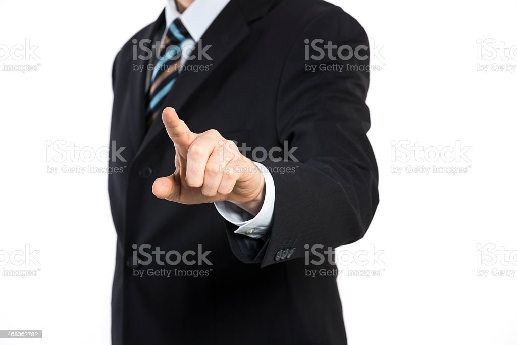 businessman touching screen concept royalty-free stock photo