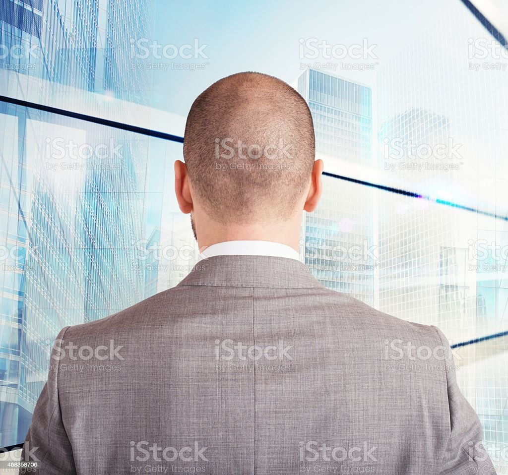 Businessman toward his future royalty-free stock photo