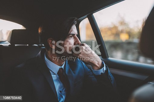 Young man on his way to work