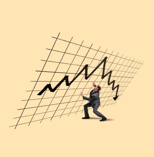 Geschäftsmann versucht, den Aktienmarkt zu stützen – Foto