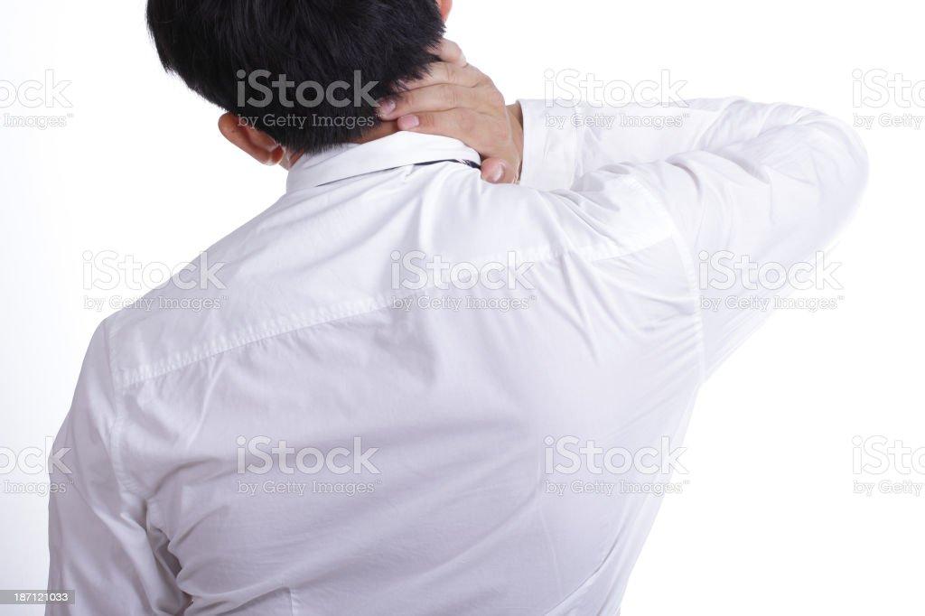Businessman use hand stock photo