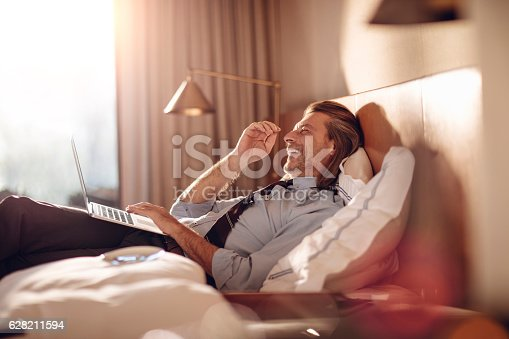 istock Businessman using a laptop 628211594