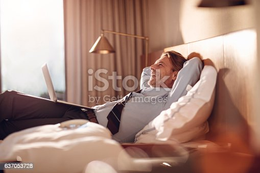 istock Businessman using a laptop 637053728