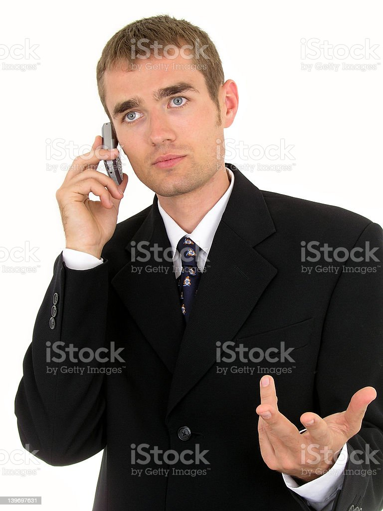 Businessman using a mobile phone royalty-free stock photo