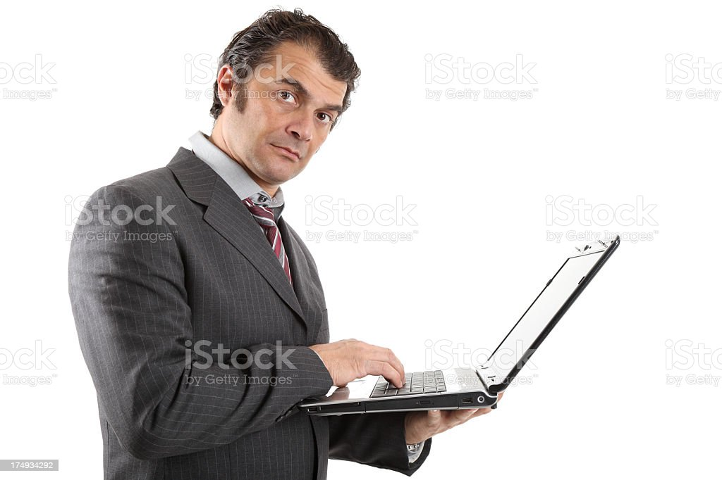 Businessman using a notebook royalty-free stock photo