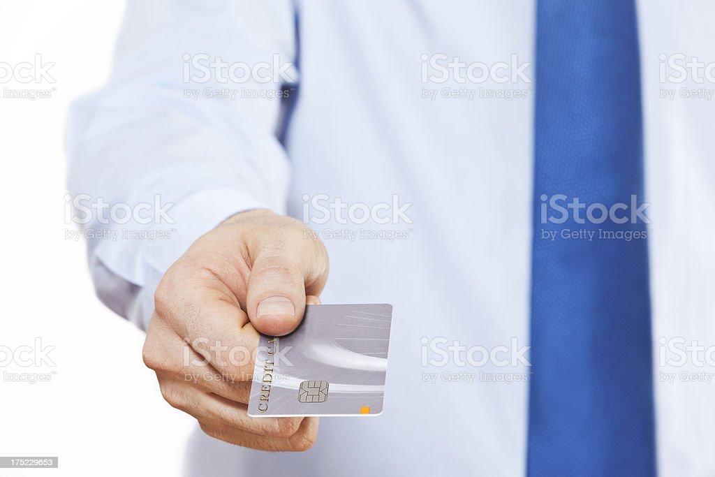 businessman using credit card royalty-free stock photo
