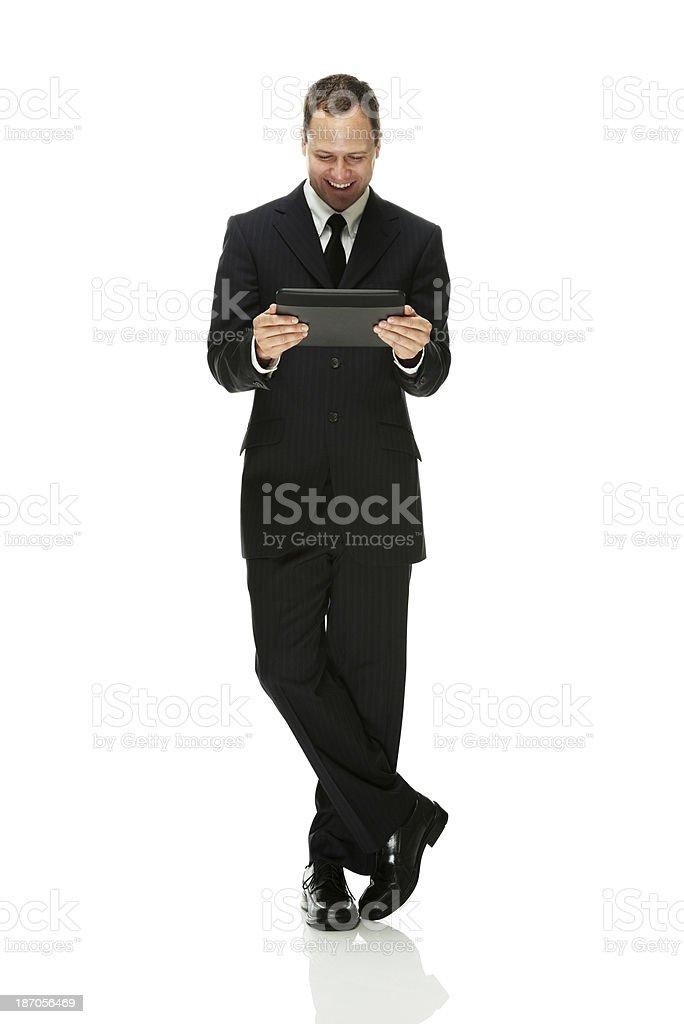 Businessman using digital tablet royalty-free stock photo
