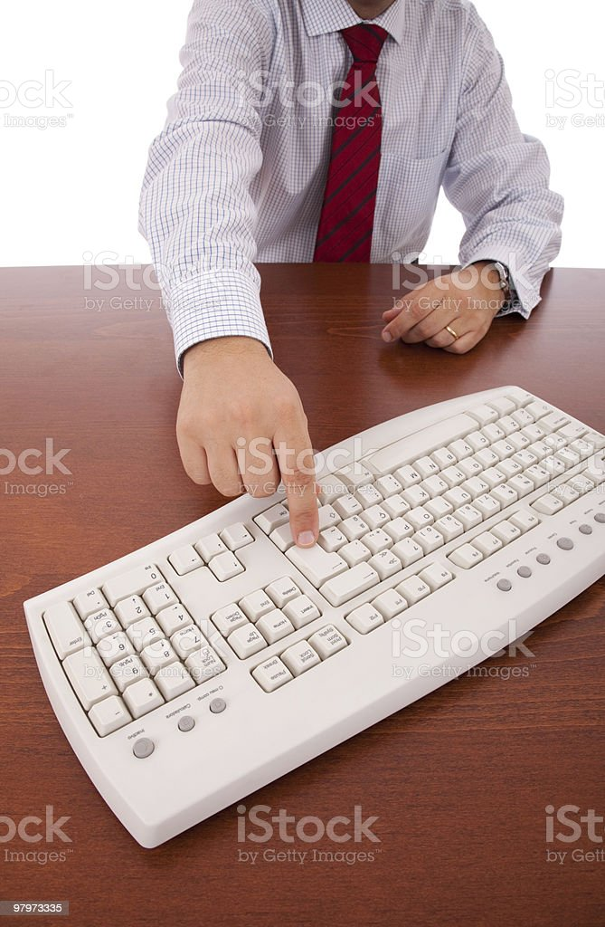 Businessman using his computer royalty-free stock photo