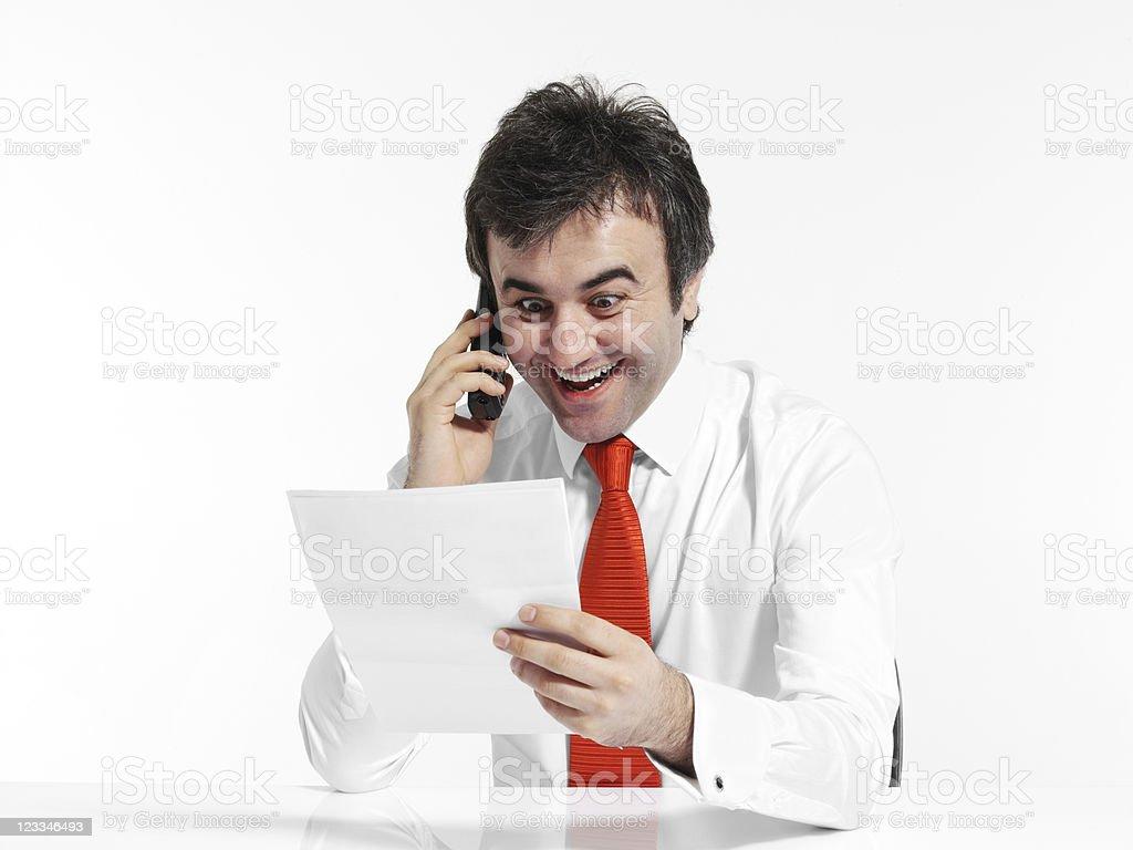 Businessman using mobile phone royalty-free stock photo