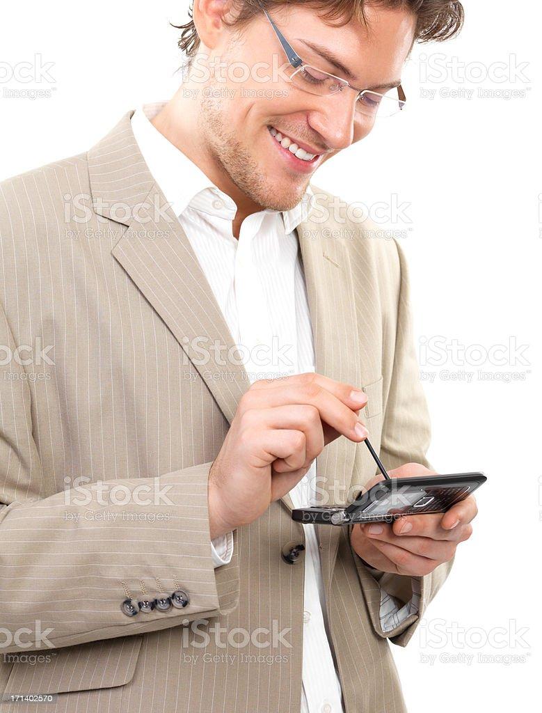 Geschäftsmann mit Handy – Foto