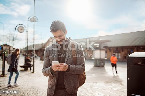 istock Businessman using mobile phone 513251940