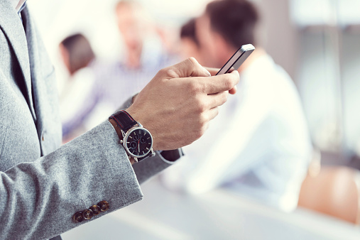 Businessman Using Smart Phone Stock Photo - Download Image Now