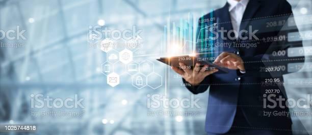 Businessman using tablet analyzing sales data and economic growth picture id1025744818?b=1&k=6&m=1025744818&s=612x612&h=qbk46h hvhqlvscr7gxtmsbkjfqj883guqgf8gcld9m=
