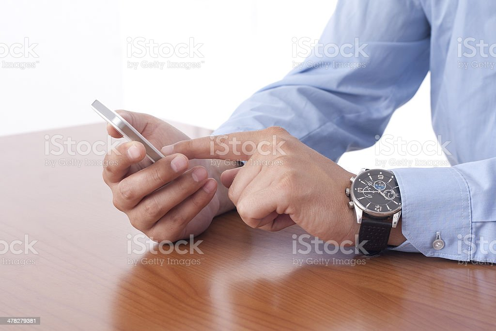 Businessman using the Smart Phone royalty-free stock photo