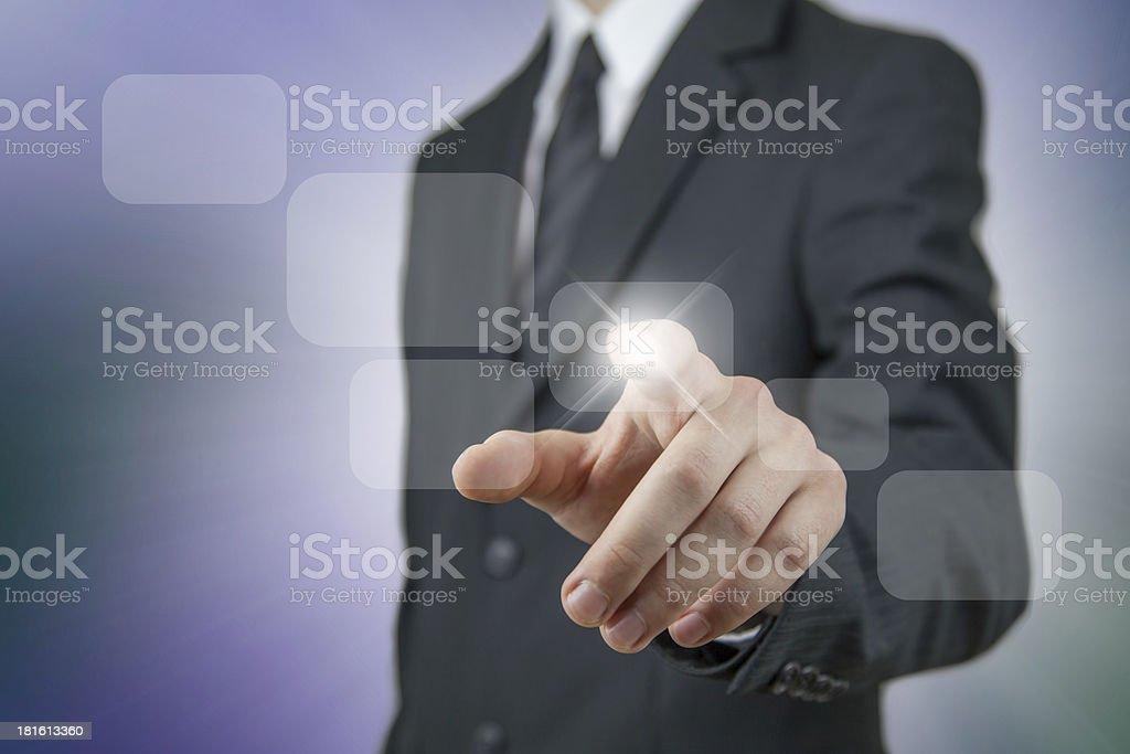 Businessman using virtual technology royalty-free stock photo